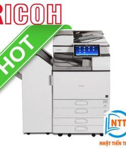 Máy Photocopy Ricoh MP 5055SP (Model năm 2019) Copy Laser trắng đen + In mạng + Scan Màu qua mạng. Tốc độ: 50 bản/phút với chức năng: Nạp và đảo 2 mặt bản gốc, đảo bản sao: Có sẳn. Màn hình cảm ứng màu điều khiển thông minh 10,1 inch rộng lớn dể dàng thao tác khi sử dụng.